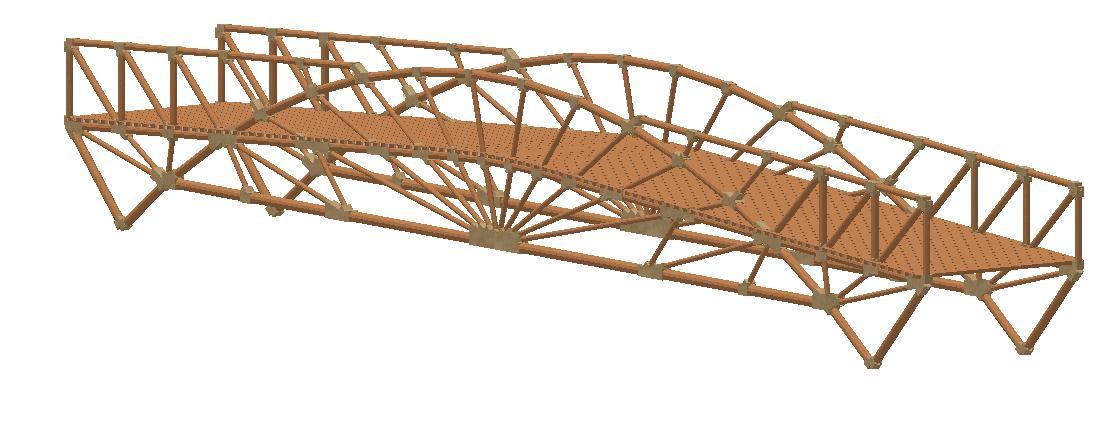 Brücke Bogensonne im Gelände